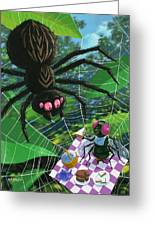 Spider Picnic Greeting Card by Martin Davey