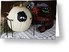 Spider Pumpkin Greeting Card