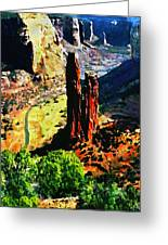 Spider Rock Canyon Dechelly  Greeting Card