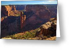 Spider Rock Sunrise Greeting Card