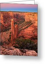 Spider Rock Sunset Greeting Card
