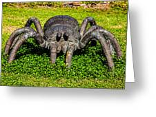 Spider Sculpture Greeting Card