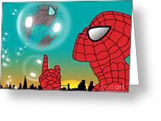 Spiderman 4 Greeting Card