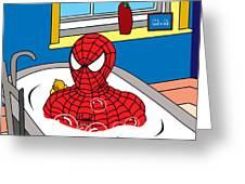 Spiderman  Greeting Card by Mark Ashkenazi