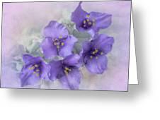 Spiderwort Cluster Greeting Card