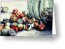 Spilled Marbles Greeting Card