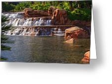 Spilling Over Waterfall Greeting Card