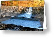 Spillway Waterfall Greeting Card