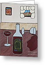 Essence Of Home - Spilt Glass Of Wine Greeting Card