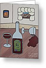 Essence Of Home - Spilt Wine Greeting Card