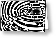 Spin Art Phonographic Maze  Greeting Card