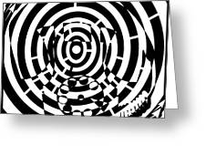 Spin Art Rotary Phone Maze  Greeting Card