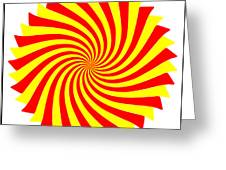 Spin Right On White Greeting Card