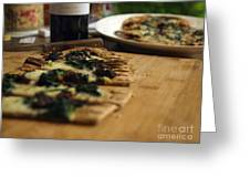 Spinach And Sun Dried Tomato Greeting Card