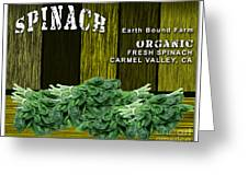 Spinach Patch Greeting Card