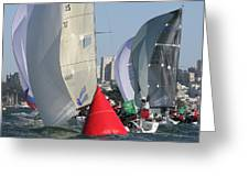 Spinnaker Skyline Greeting Card