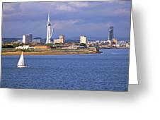 Spinnaker Tower And Gunwharf Quays Greeting Card