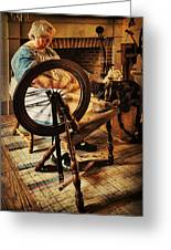 Spinnin' Spinster Greeting Card