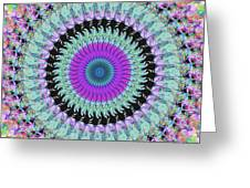 Spinning Colors Mandala Greeting Card