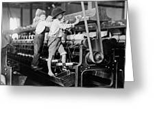 Spinning Frame Circa 1909 Greeting Card by Aged Pixel