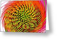 Spinning Watercolor  Greeting Card