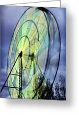 Spinning Wheel Greeting Card