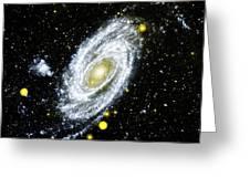 Spiral Galaxy Greeting Card