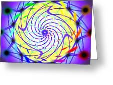 Spiral Light Hexagon Greeting Card