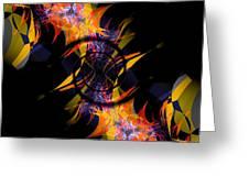 Spiral Of Burning Desires Greeting Card