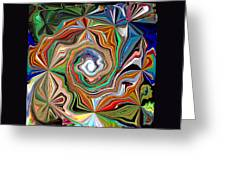 Spiral Splendor Greeting Card