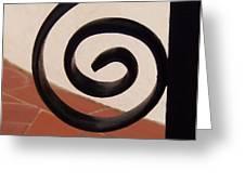 Spiral Stair Railing Greeting Card