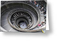 Spiral Staircase By Giuseppe Momo At The Vatican Museum. Rome. Italy Greeting Card by Bernard Jaubert