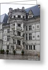 Spiral Staircase Chateau Blois  Greeting Card