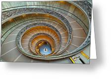 Spiral Staircase Vatican Greeting Card