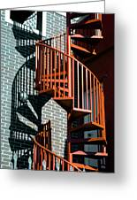 Spiral Stairs - Color Greeting Card