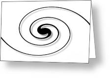 Spiral White Greeting Card