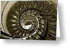 Spirals Down Greeting Card