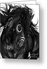 Spirit Feathers Horse Greeting Card