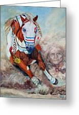 Spirit Of A War Pony  Greeting Card