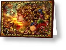 Spirit Of Autumn Greeting Card