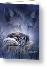 Spirit Of The Blue Fox Greeting Card
