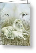 Spirit Of The White Lions Greeting Card
