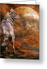 Spirit Of The Wolf Greeting Card