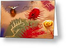 Spirits And Roses Greeting Card