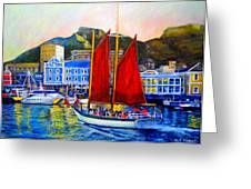 Spirit's Sunset Sail Greeting Card