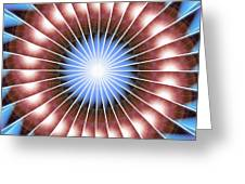 Spiritual Pulsar Kaleidoscope Greeting Card