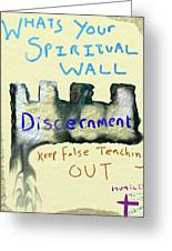 Spiritual Wall Greeting Card