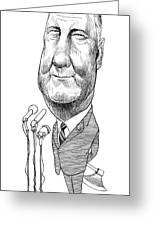 Spiro Agnew Caricature Greeting Card