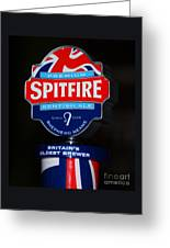 Spitfire Ale Tap Greeting Card