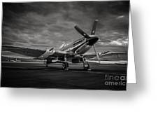 Spitfire In Black And White Greeting Card